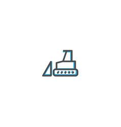 bulldozer icon design transportation icon design vector image