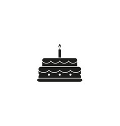 Cake celebration black icon vector