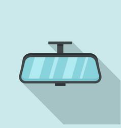 Car indoor mirror icon flat style vector