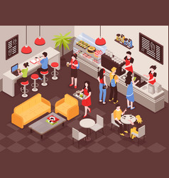 coffee house isometric vector image