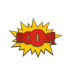 Comic boom big icon flat style vector
