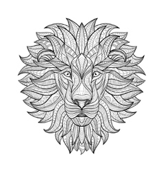 Detailed Lion in aztec style vector image