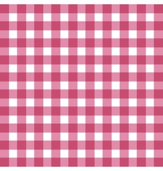 Flat easy tilable red and white gingham pattern vector image