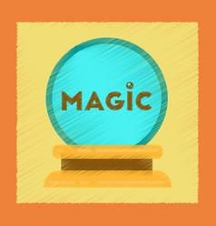 Flat shading style icon magic ball vector