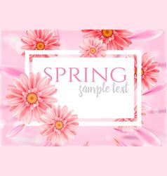 Gerbera flower on bright pink background vector