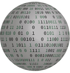 globe with binary code vector image