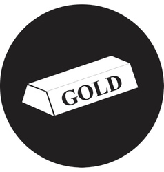 gold bar isolated on white background vector image