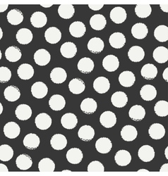 Hand drawn geometric seamless ink polka dot vector image