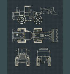 heavy loader drawings vector image