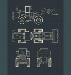 Heavy loader drawings vector