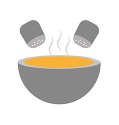 Kitchen vessel with soup vector