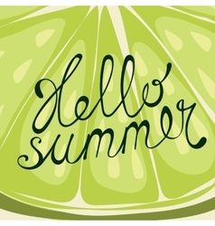 Lime Hello summer card vector
