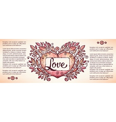 love banner vector image