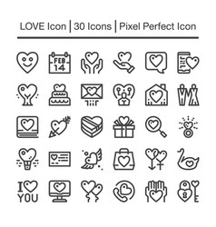 love line icon vector image