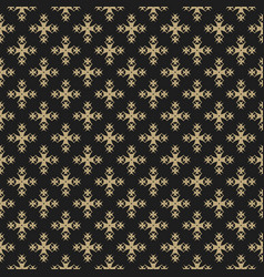 luxury ornament background black and gold elegant vector image