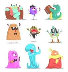 Monsters Attending Posh Glamorous Party vector