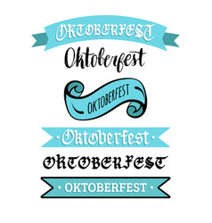 oktoberfest ribbons collection for beer festival vector image