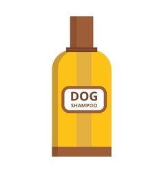 Pet dog shampoo flat icon grooming health bathtub vector