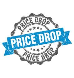 Price drop stamp sign seal vector
