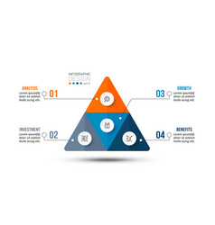 Pyramid business work flow infographic template vector