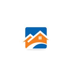 Realty company logo vector