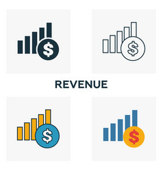 Revenue outline icon thin line element from vector