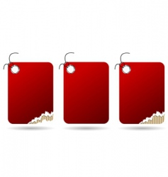 ripped red tags vector image