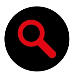 Search flat intensive red and black colors round vector