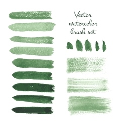 Set of watercolor brush strokes vector