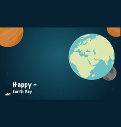 space with world style earth day vector image