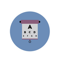 stylish icon in color circle eyesight check vector image