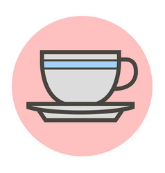 Tea cup on a saucer vector