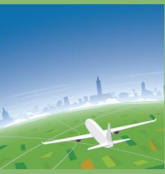 Toulouse skyline flight destination vector