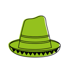traditional hat mexican culture icon image vector image