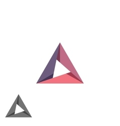 Triangle logo mockup tech shape geometric simple vector