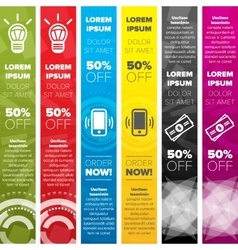 Vertical web banners templates vector image