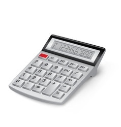 White calculator vector