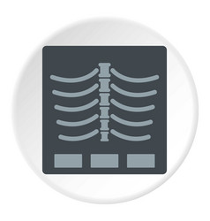 X ray photo icon circle vector