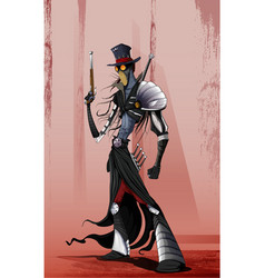zombie or vampire hunter vector image
