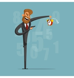 A businessman or manager of killing time with a vector image