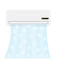 Split system air conditioner realistic vector