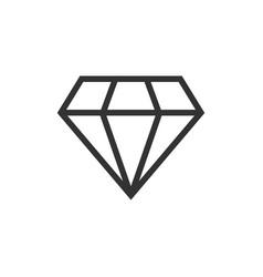 diamond jewel gem icon in flat style diamond vector image