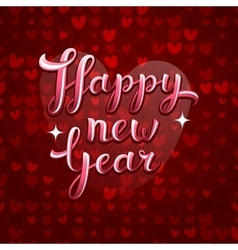 Lovely greeting happy new year card vector image
