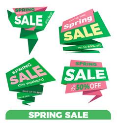 spring sale sale label price tag banner badge vector image