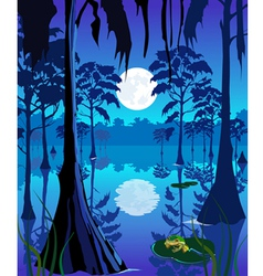 Swamp vector image vector image