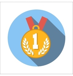 1st place medal flat icon vector image