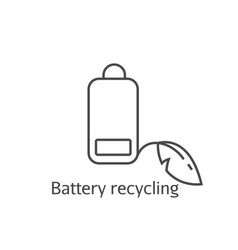 battery low eco recycling pictogram vector image