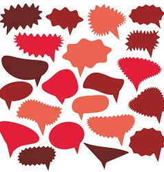 Blank Empty red Speech bubbles set on white vector image vector image