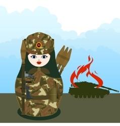 Matryoshka grenade thrower vector image