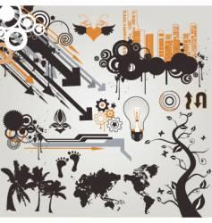 urban grunge design elements vector image